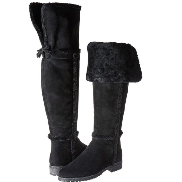 55be157b574 FRYE  Tamara  Shearling Over the Knee Boots